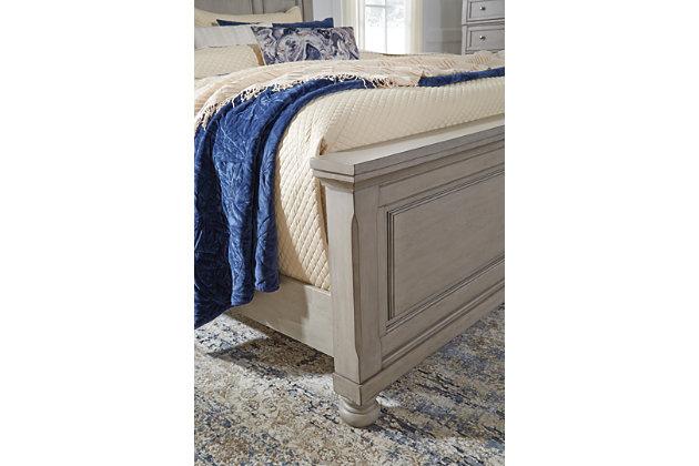 Lettner California King Panel Bed, Light Gray, large