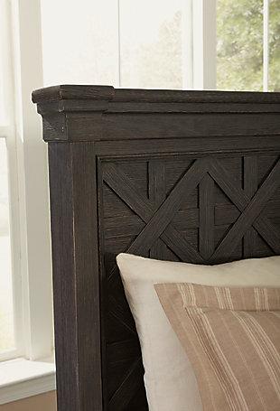 Tyler Creek Queen Panel Bed, Black/Gray, large