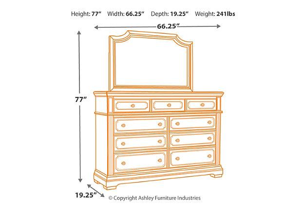 Mikalene Dresser and Mirror, , large