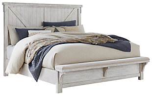 Brashland Queen Panel Bed, White, large