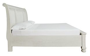 Robbinsdale Queen Sleigh Bed with Storage, Antique White, large
