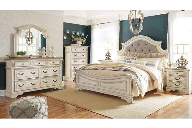 Realyn Queen Upholstered Panel Bed Ashley Furniture