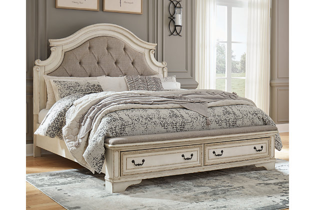 Realyn Queen Upholstered Bed, Two-tone, large