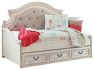 Realyn Twin Daybed with 1 Large Storage Drawer with 8 Inch Memory Foam Mattress in a Box, , large