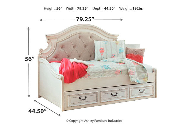 Realyn Twin Daybed With 1 Large Storage, Full Size Bed With Trundle And Storage Drawers