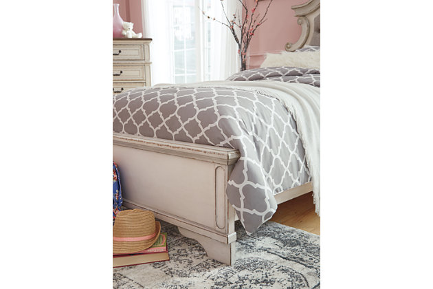 Realyn Twin Panel Bed, Chipped White, large