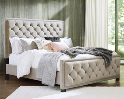 Picture of: Bellvern Queen Upholstered Bed Ashley Furniture Homestore
