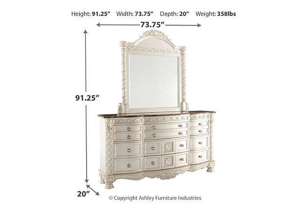 Cassimore Dresser and Mirror, , large