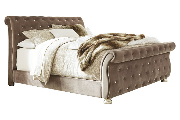 Cassimore King Upholstered Bed, Gray, large