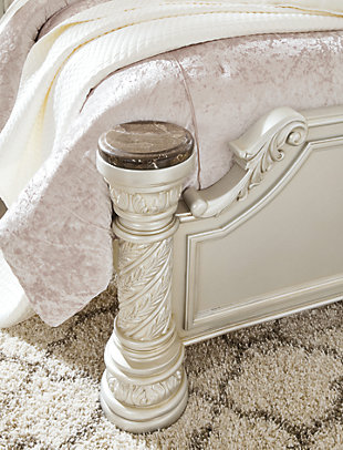 Cassimore Queen Panel Bed, Pearl Silver, large
