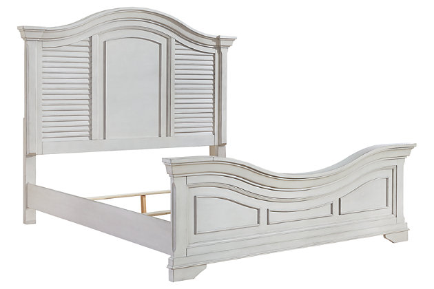 Teganville Queen Panel Bed, White, large