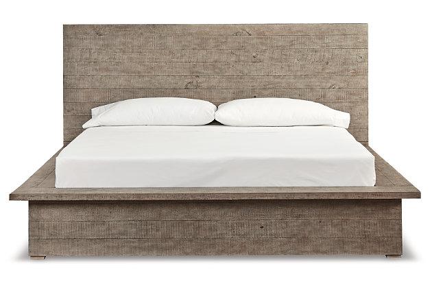 Langford Queen Panel Bed, Light Grayish Brown, large