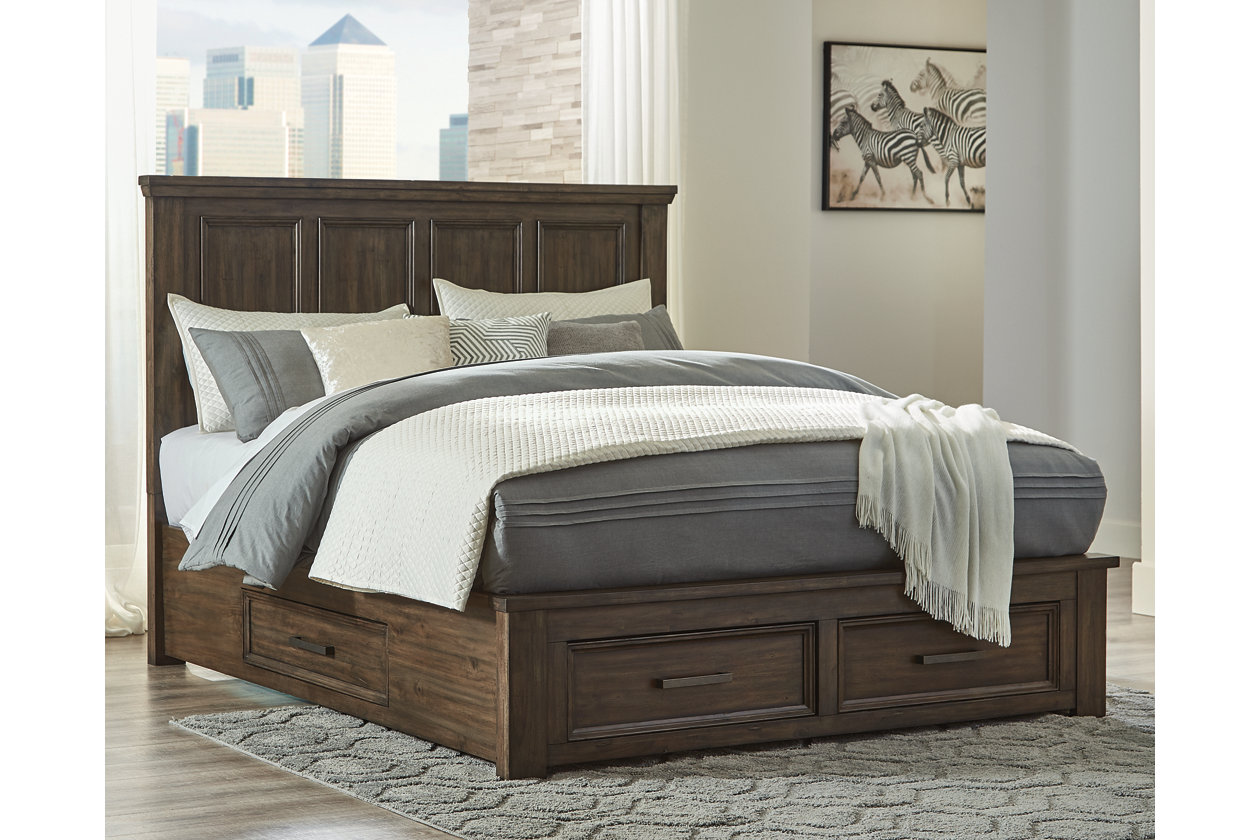 Johurst Queen Panel Bed With 4 Storage Drawers Ashley Furniture Homestore