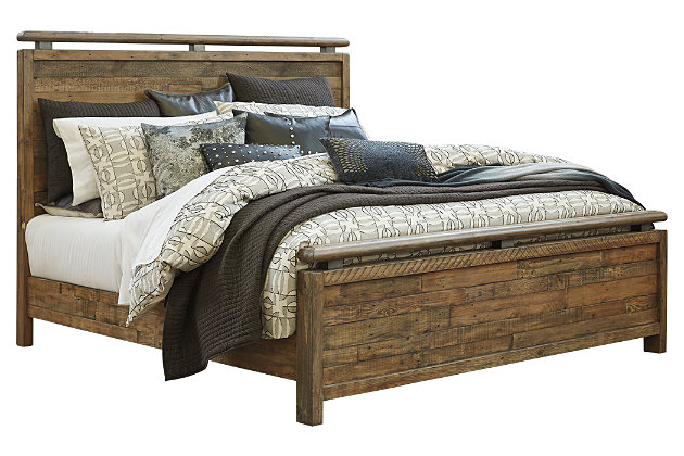 Sommerford Queen Panel Bed, Brown, large