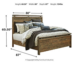 Sommerford King Panel Bed, Brown, large