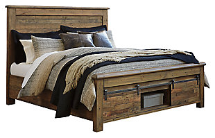 Sommerford Queen Panel Bed with Storage, Brown, large
