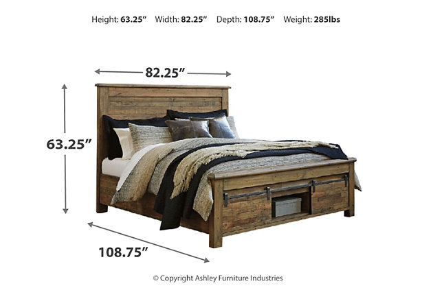 Sommerford King Panel Bed with Storage, Brown, large