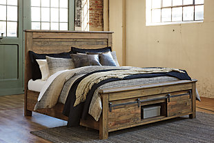 Sommerford California King Panel Bed with Storage, Brown, large