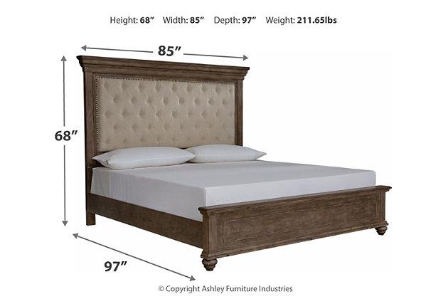 Johnelle California King Upholstered Panel Bed, Beige, large