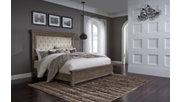 Johnelle Queen Upholstered Panel Bed, Beige, rollover