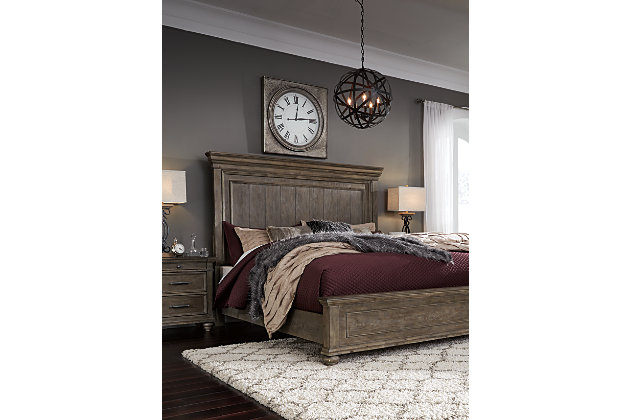 Johnelle Queen Panel Bed, Gray, large