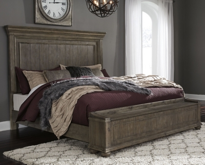 Picture of: Johnelle Queen Panel Bed With Storage Bench Ashley Furniture Homestore