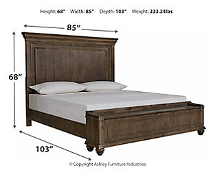Johnelle Queen Panel Bed with Storage, Gray, large