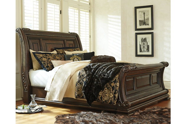 Valraven King Sleigh Bed Ashley Furniture Homestore