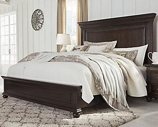 Brynhurst Queen Panel Bed, Dark Brown, rollover
