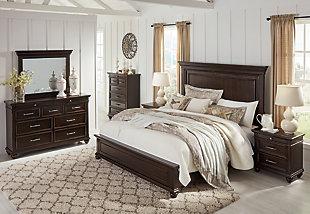 Brynhurst Queen Panel Bed, Dark Brown, large