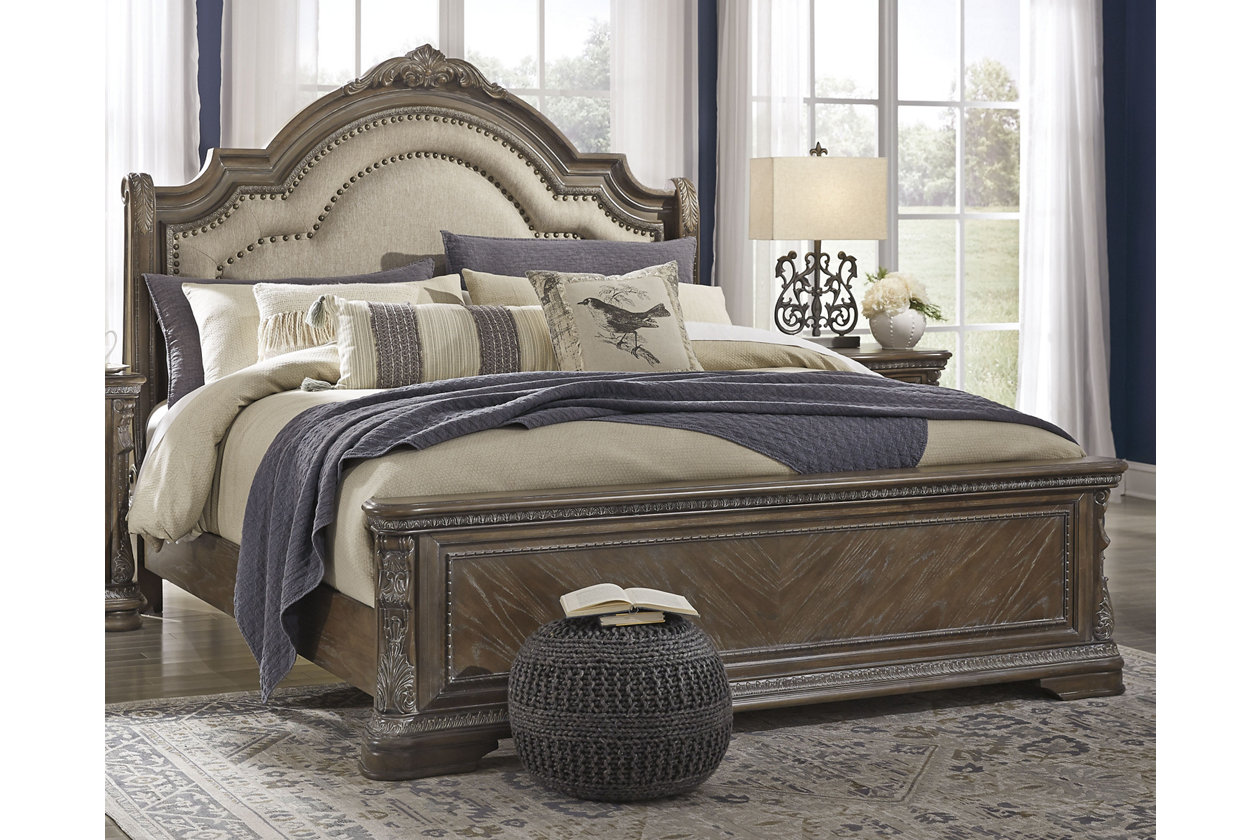 Charmond Queen Upholstered Sleigh Bed Ashley Furniture Homestore