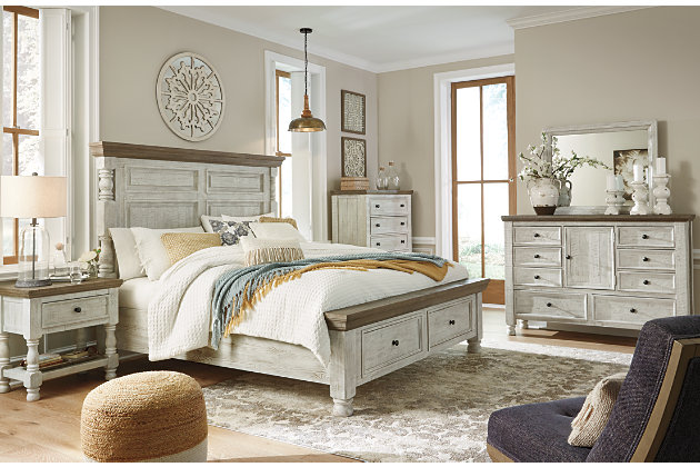 Havalance Queen Poster Bed With 2 Storage Drawers Ashley Furniture Homestore