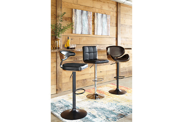 Black Bellatier Pub Height Bar Stool View 5