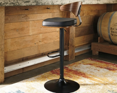 Bellatier Adjustable Height Bar Stool Ashley Furniture Homestore