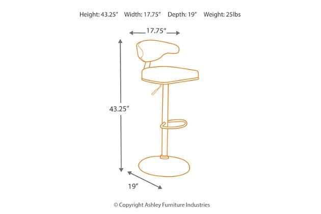 Bellatier Adjustable Height Bar Stool, , large