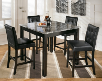 Maysville Counter Height Dining Room Table and Bar Stools Set of