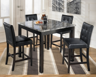 Ashley Maysville Counter Height Dining Room Table and Bar...