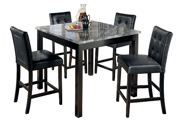 Maysville Counter Height Dining Room Table and Bar Stools (Set of 5), , large