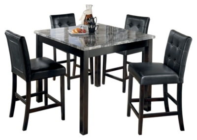 Picture of: Maysville Counter Height Dining Table And Bar Stools Set Of 5 Ashley Furniture Homestore