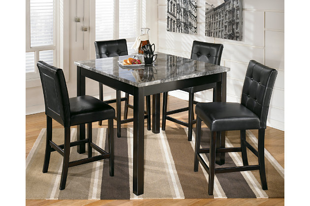 Maysville Counter Height Dining Room Table and Bar Stools (Set of ...