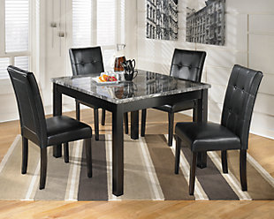 Black Dining Room Furniture Shown On A White Background