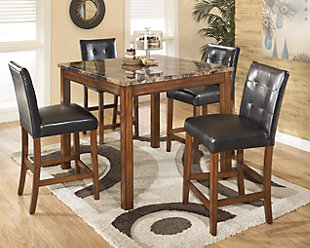 Theo Counter Height Dining Room Table and Bar Stools (Set of 5), , rollover