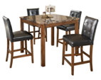 Theo Counter Height Dining Room Table And Bar Stools Set Of 5 Ashley Furn