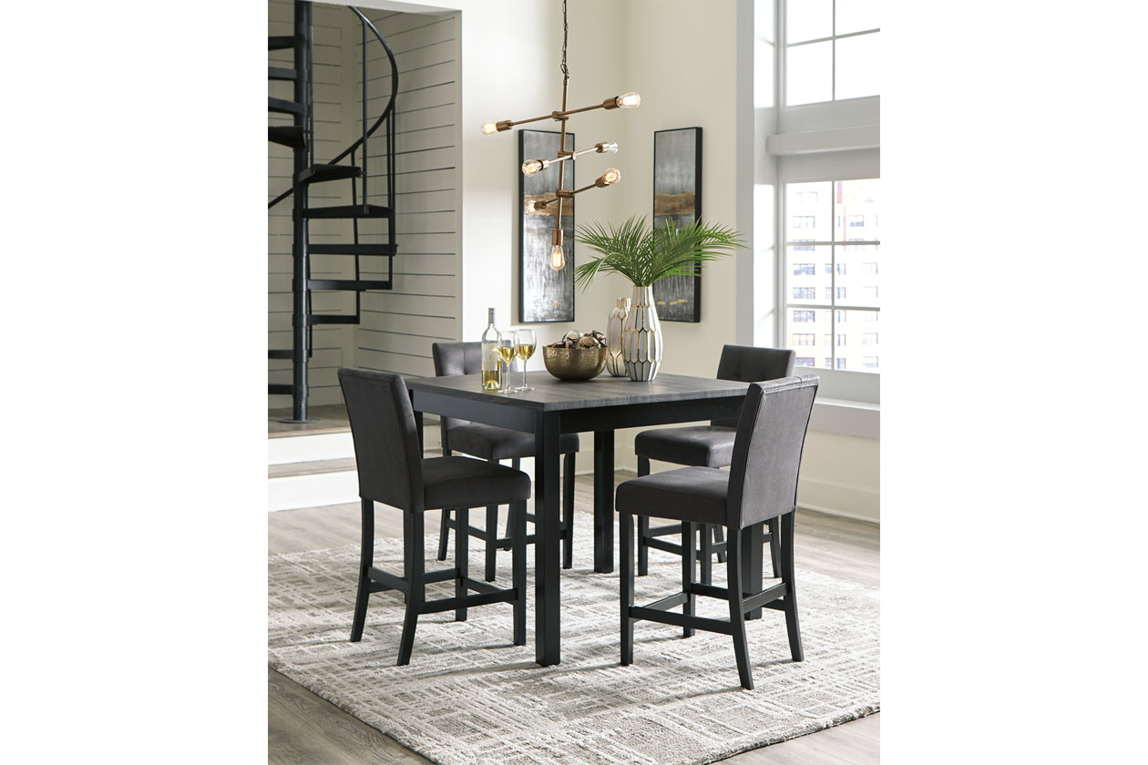 Garvine Counter Height Dining Table And Bar Stools Set Of 5 Ashley Furniture Homestore