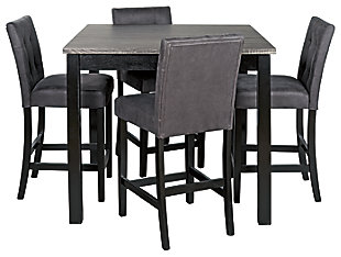 Garvine Counter Height Dining Table and Bar Stools (Set of 5), , large