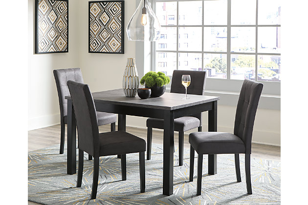 Garvine Dining Table and Chairs (Set of 5), , large