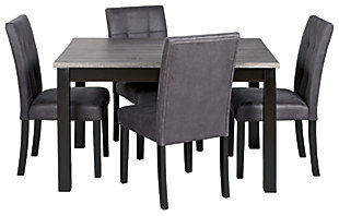 Garvine Dining Room Table and Chairs (Set of 5), , large