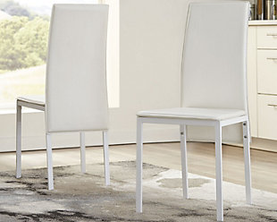 Sariden Dining Room Chair, White, rollover