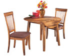 Rustic Brown Berringer Dining Room Table View 2