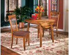 Rustic Brown Berringer Dining Room Table View 3